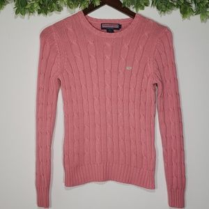 Vineyard Vines Cable Knit Crew Neck Sweater, Small